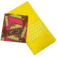 Venta al por mayor Ankara cera Ankara algodón africano cera impresiones tela + Qigh calidad Guipure encaje químico tela de encaje para costura de retazos