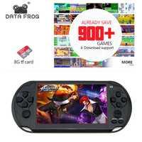 Los datos de la rana de juego para GBA portátil consolas de juegos incorporada de 3000 juegos clásicos MP5 niño juego de consola con 5,0