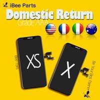 IBee Pièces 1 pièces Grade AAA Amoled Écran Oled Pour iPhone X XS LCD En Verre Tactile remplacement d'écran Châssis Froid