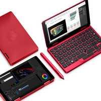 Koi límite edición Mix2S rojo bolsillo PC Intel Core M3-8100Y 8 GB RAM 512 GB SSD FHD Pantalla de reconocimiento de huellas dactilares licencia Windows10