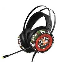 Clásica color de camuflaje de control de la línea de auriculares de grafeno cuerno 3D Sonido envolvente estéreo denoise Voz HD profesional E-deporte