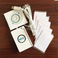 NFC ACR122U RFID Puerto USB lector de tarjetas inteligentes sin contacto y escritor + 5 unids IC tarjetas + SDK