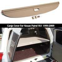 Couverture arrière de cargaison pour Nissan patrouille Y61 1998-2009 intimité coffre écran de sécurité bouclier ombre Auto accessoires