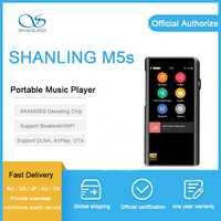 SHANLING M5s jugador AK4490EQ AD8397 32bit/768 kHz Bluetooth wifi DAP FALC sin pérdidas MP3 jugador DSD256 Hi-Res de Audio equilibrado