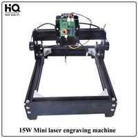 Nueva 15 W Mini máquina de grabado láser de marcado láser máquina de corte (140mm * 200mm) para el cuero madera Metal acero inoxidable cerámica