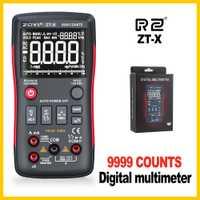 Multímetro Digital de verdadero 9999 cuenta con analógico Bar gráfico Auto de la gama de Mastech Transistor comprobador de batería ZT-X