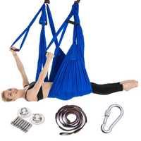 Ensemble complet 2.5*1.5 m hamac de Yoga aérien Anti-gravité en Nylon balançoire volante Pilates maison GYM suspendu ceinture plaques de plafond