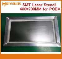 Envío rápido por DHL/EMS 400*700 MM plantilla láser PCB plantilla para PCBA placa montar inoxidable de acero plantillas smt pcba