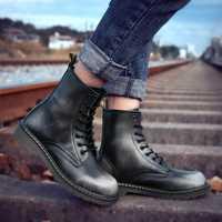 Botas de invierno para hombre talla grande 38-47 hombre Martens botas vino rojo negro Vintage zapatos cómodos para hombre Botas de Trabajo 2018