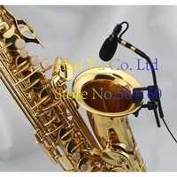 Envío Gratis Pro saxofón de la etapa de instrumento Clip condensador micrófono auriculares para SHURE 4 Pin TA4F
