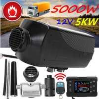 Calentador de coche 5KW 12 V calentador de aire diesel calentador de estacionamiento con Control remoto Monitor LCD para RV, remolque de motocicleta, camiones, barcos