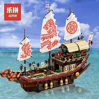 Lepin 06057 Ninja film Dragon Ship destin's Bounty Set blocs de construction briques Legoinglys enfants Ninjagoinglys jouet 70618