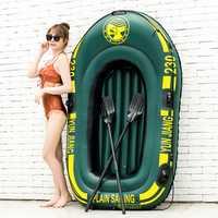 Nuevo barco de pesca de goma de PVC grueso de alta resistencia con paletas para niños adultos a la deriva inflable Kayak