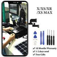 Para iPhone X XS X pantalla táctil LCD No píxel muerto AMOLED OEM Panel para iPhone XS Max XR LCD pantalla de repuesto parte