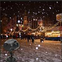 VNL IP65 láser Navidad copo de nieve proyector al aire libre LED luces de discoteca Jardín de la Casa de Luz de la estrella de vacaciones decoración de interiores