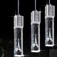 1/3/4/6 cabezales Lámparas colgantes de cristal 3 cabezales contraídos lámpara de cristal Led Torre droplight lámpara colgante de cristal Torre MX7111547