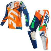 Hot sales 360 2017 Racing Divizion Completo Motocross Dirt Bike Gear Set Jersey + Pantalones naranja Racing jersey pantalón