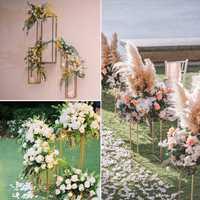 Geometría creativa carretera nueva boda DIY accesorios de hierro forjado pintura de decoración de la flor arco boda Tstage Decoración