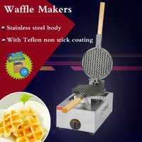 1PC FY-1.R GAS máquina de gofres de gofre cuadrado pan placas de cerámica baker material huevo gofre los fabricantes de máquina