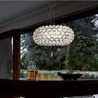 Foscarini Caboche bola lámpara colgante moderna LED dormitorio acrílico cocina casa 50 cm cuenta luz incluye bombilla