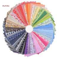 Motivo, 63 piezas, 9 colores de tela de punto de algodón mezclado, materiales delgados de tejido de baja densidad para decoración del hogar/hecho a mano, 50*50 cm
