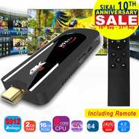 H96 Pro 4 K Mini TV Stick Octa Core Amlogic S912 DDR3 2 GB ROM 16 GB Android 7,1 Mini PC 2,4g Wifi HD2.0 BT4.1 caja de TV Android inteligente
