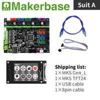 MKS Gen_l y MKS TFT24 kits para 3d impresoras desarrollado por Makerbase