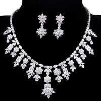 2017 clásico AAA Cubic Zircon collar nigeriano cuentas de collar de la joyería para las mujeres Parure Bijoux Femme AS040