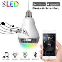 Hogar Inteligente inalámbrico Bluetooth altavoz LED Bombilla Wifi Color cambiar luz de la automatización Kit de módulo de Control de aplicación de teléfono inteligente