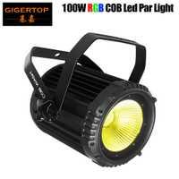 2018 nuevo COB LED Par luz 100 W de alta potencia de aluminio 3in1 RGB Dj Disco DMX Led haz lavar luz estroboscópica efecto de luces Par silencio bastante