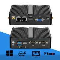 Mini PC Celeron J1900 Quad Core Windows 10 double LAN 2 * COM sans ventilateur Mini ordinateur Celeron J1800 N2810 NetTop 300 M WIFI HDMI VGA