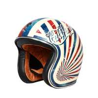 Vintage casco de la motocicleta TORC T50 de la cara abierta del casco DOT aprobado medio casco Retro moto casco capacete motociclistas capacete