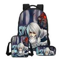 Hynes águila 3 unids/set Anime personajes impreso mochilas para niños Mochila de dibujos animados Mochila niños Casual bolsa de hombro de las niñas