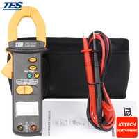 Medidor de abrazadera digital AC/DC clamp meter AC/DC RMS clamp meter TES3092