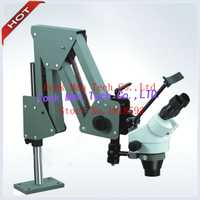 Microscopio de Gema portátil súper claro 7X-45X Zoom estéreo de piedra de ajuste microscopio 5 W LED anillo de luz libre