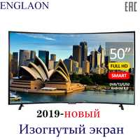 TV de 50 pulgadas ENGLAON UA500SF 4 K Smart TV Android 6,0 DVB-T2 curva LED TV sTelevision
