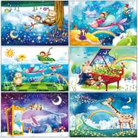 Puzzle en bois 1000 pièces kawaii cartoon puzzles jouets éducatifs pour enfants enfants jouet décoration de la maison à collectionner