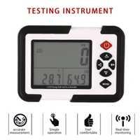 HT-2000 escritorio dióxido de carbono registrador de datos de Detector de Gas analizador Monitor LCD/PC Dióxido de aire de temperatura y humedad registrador de Metro