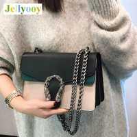Marca de lujo de las cadenas de bolsa de hombro para las mujeres famoso diseñador de bloqueo de la bolsa de mensajero de cuero de las mujeres bolso de Color bolso Clucth canal
