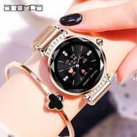 SCOMAS de lujo de moda las mujeres reloj inteligente de Monitor de presión arterial Fitness Tracker Ajuste de brillo Smartwatch