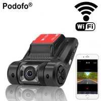 Podofo WiFi coche DVR Cámara Novatek 96658 Dashcam de grabadora de vídeo registrador inalámbrico Mini G-sensor de visión nocturna Dash cam