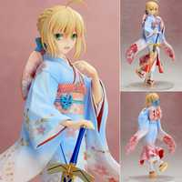 El destino/noche estancia figuras de acción Kimono Saber lindo PVC figura de juguete 250mm Anime figuras Sexy Kimono colección modelo muñeca L1268