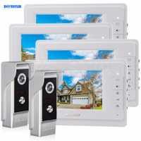 Diysecur 7 pulgadas TFT LCD de color de vídeo puerta teléfono Vídeo portero Timbres de puerta 700 tvline HD ir cámara de visión nocturna 2v4