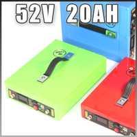 51,8 V 20AH Ebike batería 52 V batería de iones de litio de 5 V USB impermeable caso 14 s 18650 batería paquete