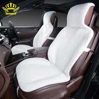 2015For 2 asiento de coche cubiertas Frontales faux fur lindo interior del coche accesorios fundas de colchón estilo invierno nueva felpa almohadilla cubierta de asiento de coche