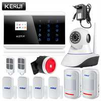 KERUI Android IOS APP control GSM PSTN Home Burglar sistema de alarma de Seguridad ruso Español Francés Inglés voz alarma