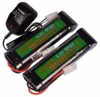 2x8,4 V 3800 mAh batería recargable de NiMH Paquete de células de RC Airsoft + cargador US/EU/ es/Reino Unido adaptador de enchufe