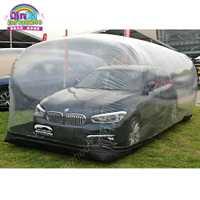 Escaparate inflable de la cápsula de los coches del refugio del coche del PVC, tienda transparente a prueba de polvo inflable para el coche, coche de almacenamiento