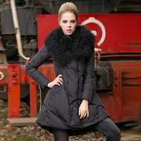 S-4XL Plus tamaño Real Mongolia piel de oveja Gran Collar abrigo de chaqueta de invierno de las mujeres suelto Parkas de manga larga gruesa caliente Outwear l1724