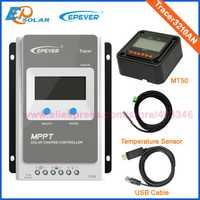 Rastreador 3210AN EPsloar 30A MPPT controlador de carga Solar 12 V 24 V LCD Diaplay EPEVER regulador con cable de comunicación USB y de sensores